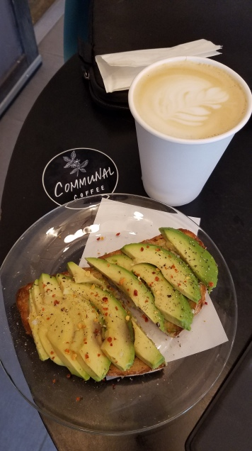 Avocado toast and a lavender honey latte #milennialdreams